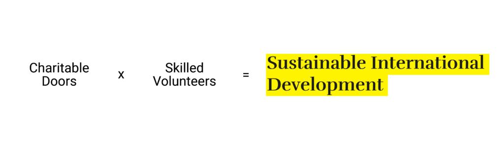 Charitable doors x skilled volunteers = sustainable international development
