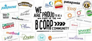 We are proud to be a part of the B Corp Community